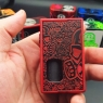 """GOLIATH REBORN - """" THE BEETLE"""" Brushed Red and Door engrave black transp."""