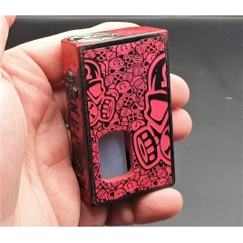 "GOLIATH REBORN - "" THE BEETLE"" Brushed Red and Door Full engraved black transp."