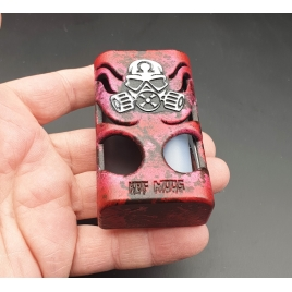 """GOLIATH REBORN - """" THE BEETLE"""" Brushed Red and Door Full engraved White -Red 21700"""