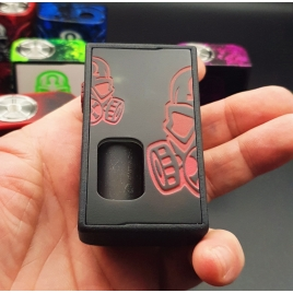 """GOLIATH REBORN - """" THE BEETLE""""- Brushed Red And Door engraved Red custom - 21700"""